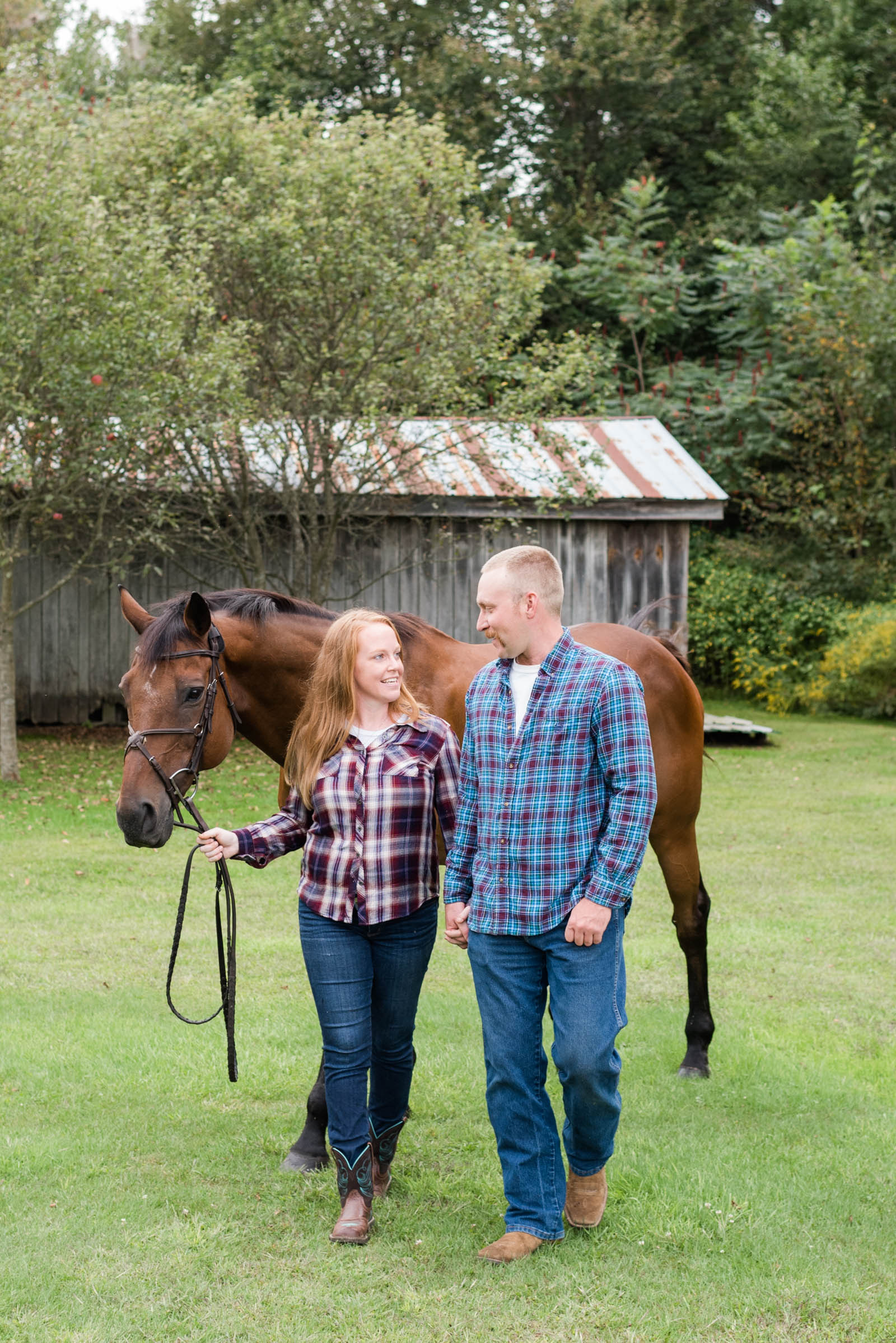 Katie and Marcus Engagement on Family Farm in Upstate New York