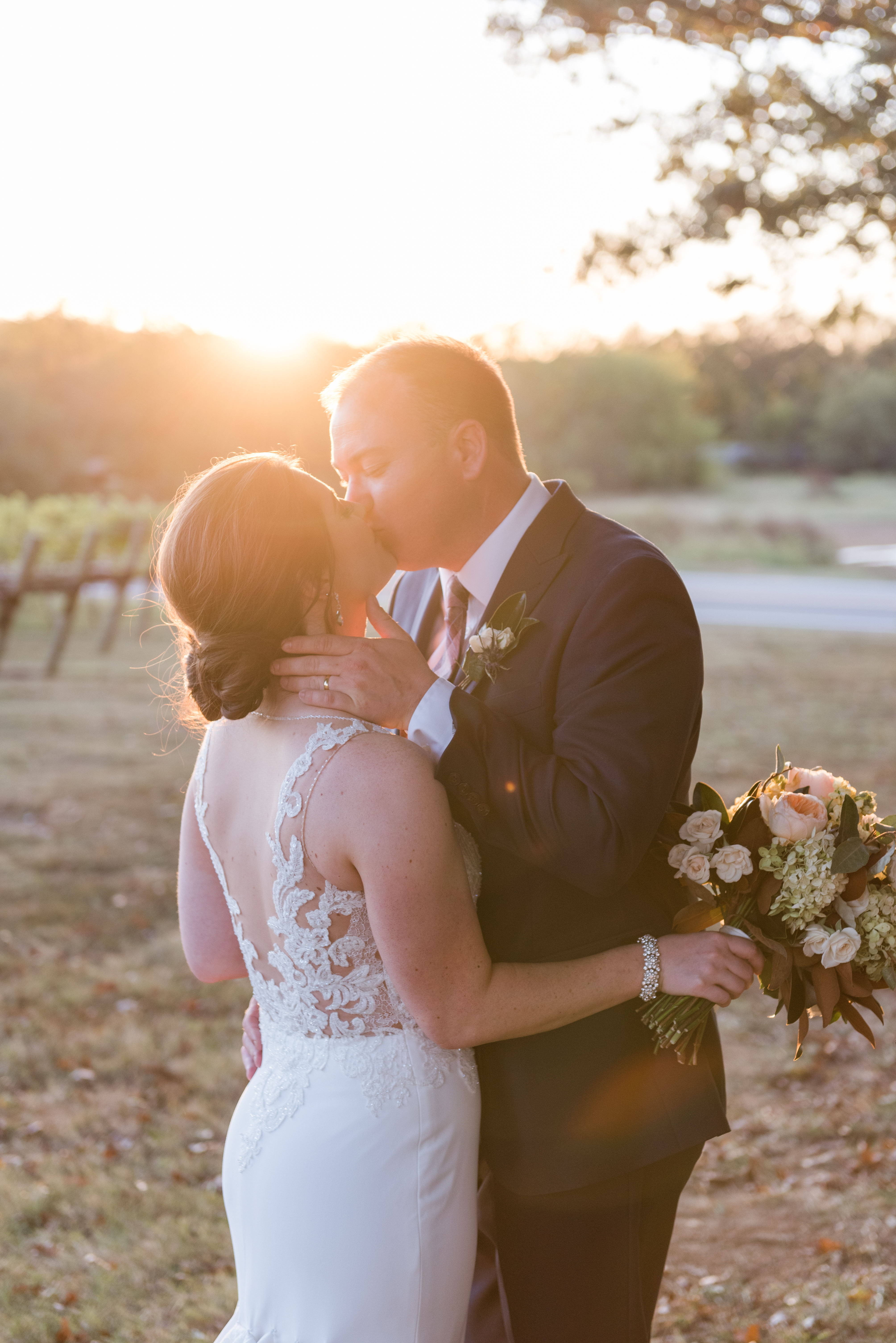 Elegant Fall Wedding at Arrington Vineyards Arrington, Tennessee