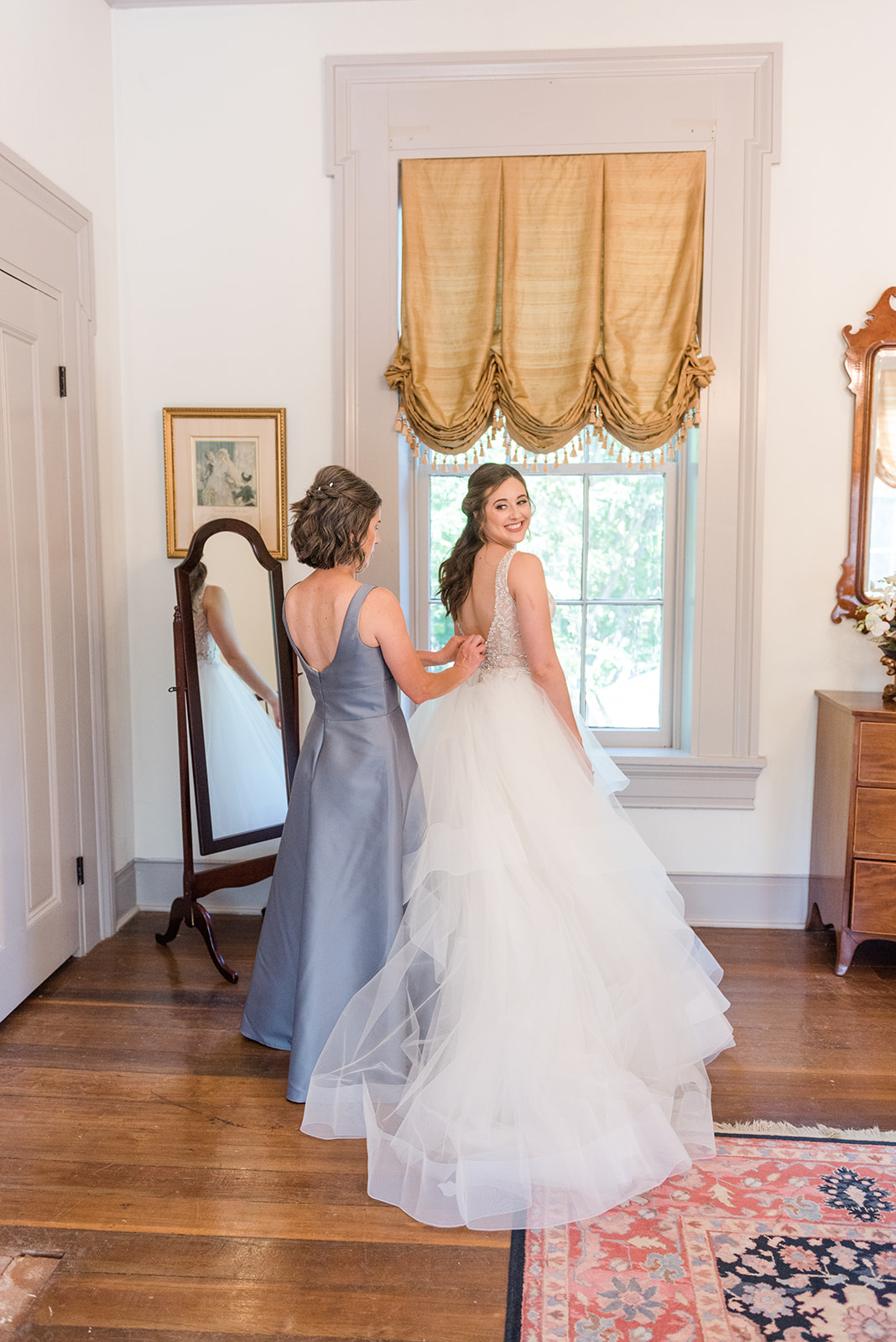 Intimate Gold, Ivory, and Blush Summer Wedding at the Brentwood Governor's Club at Pleasant Hill Mansion in Brentwood, Tenessee